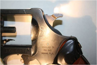 evidence photo recovered gun